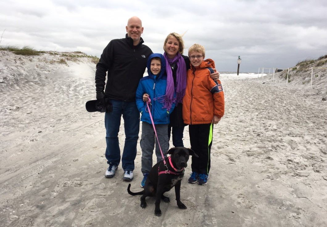 Nick Howland and family at Atlantic Beach